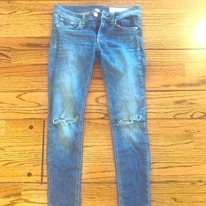 Rag & Bone Capi Jeans with frayed crop! 👖